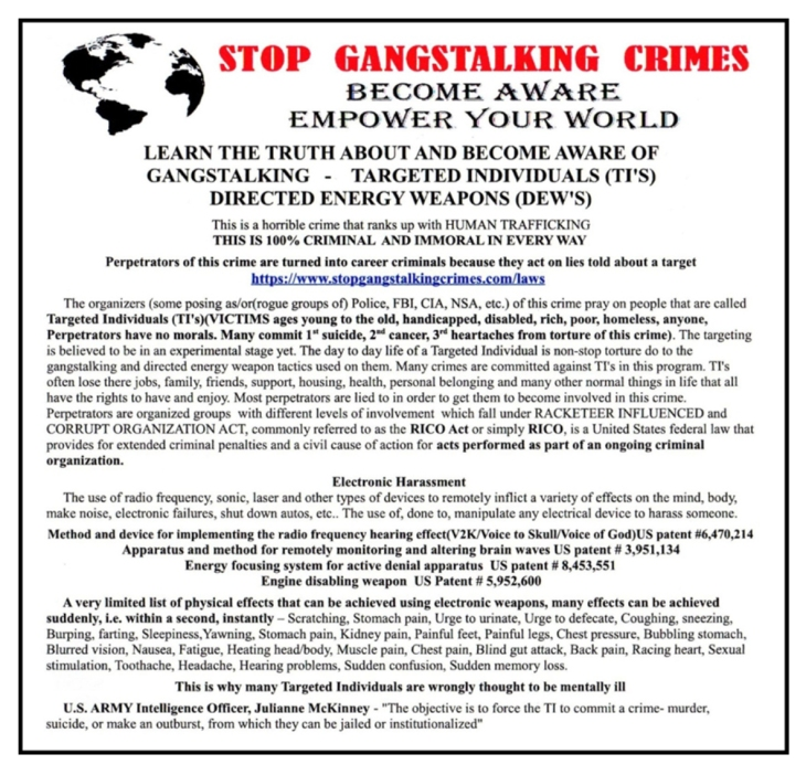 stop gangstalking